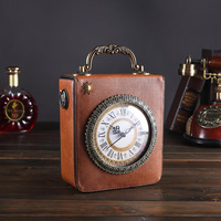Vintage European Middle Ages Style Clock Crossbody Bags for Women 2019 PU Leather Luxury Square Shoulder Bag Embroidery Handbag