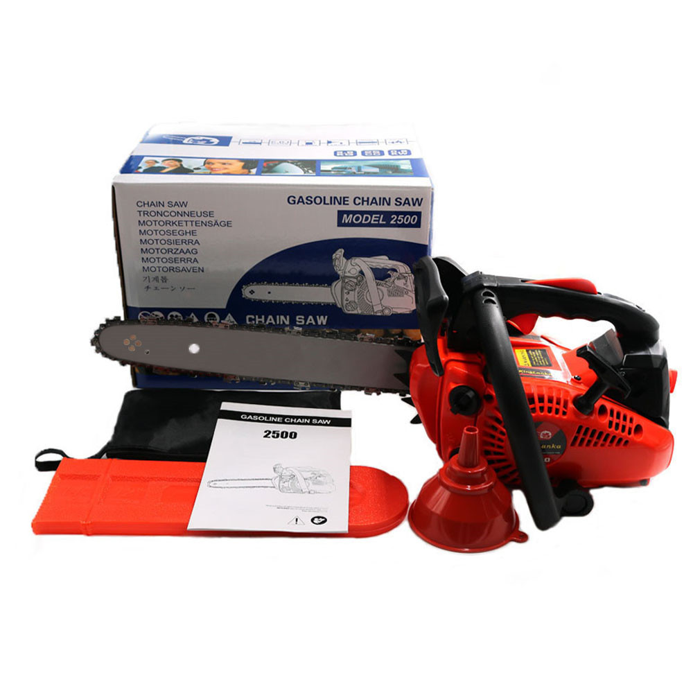 Professional wood cutter chain saw 2500 Gasoline CHAINSAW 25CC CHAIN SAW Small Mini Chainsaw with 12inchBlade