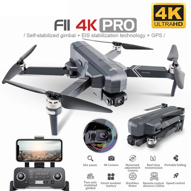 SJRC F11 4K PRO GPS Drone with FPV 4K HD Camera Two-axis Anti-shake Gimbal Brushless Quadcopter