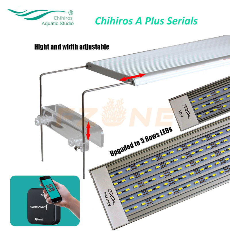 2017 New Chihiros A PLUS Series Aquarum Led Lighting Plant Grow Light Lid Or Hang Fix With Brightness Remote Control
