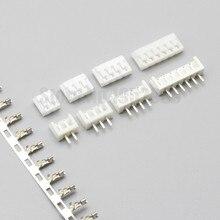 50 conjunto eh 2.5mm conector substituição de jst b * B-EH 2p 3p 4p 5p 6p 7p 8p 10p 2.5mm passo (soquete de pino reto + habitação + terminais)