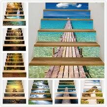 Cenário Natural Decoração de Escadas Escada de Degraus Da Escada Adesivos de parede Adesivo Removível À Prova D' Água 3D Home Decor Art Sticker Escalier
