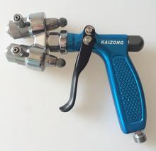 dual head spray gun two nozzle spray gun nano spray plating gun mirror painting double aircap pistal chrome sprayer gun plating plating chrome rectifier tm200gz 2h