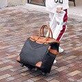 Vrouwen Trolley Bagage Rollende Koffer Trekstang Doos Licht Reizen Bag Reistas Handtas Slepen Pakket Bagage Pakket Mannelijke