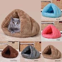 Puppy Pet Cat Dog Soft Warm Nest Kennel Bed Cave House Sleeping Bag Mat Pad Tent 3 Colors Pets Winter Warm Cozy Beds pet house bed tent cat nest folding villa dog kennel indoor warm sleeping mat soft yurt winter puppy cave sofa pet supplies