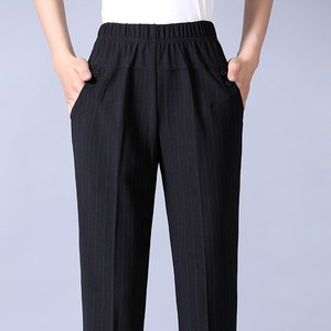 Image 3 - Autumn Winter Middl Aged Women Warm Velvet Elastic Waist Casual Straight Pants Female Trousers Plus Size Clothing