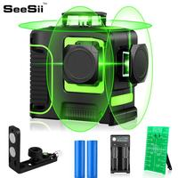 12 lines 3D Green Niveau Laser Level Detector Nivel For Construction Tool Lasers 360 Autonivelante Instrument Lazer Meter