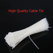 100PCS Self-Locking Plastic Nylon Wire Cable Zip Ties white Fasten Loop Various specifications