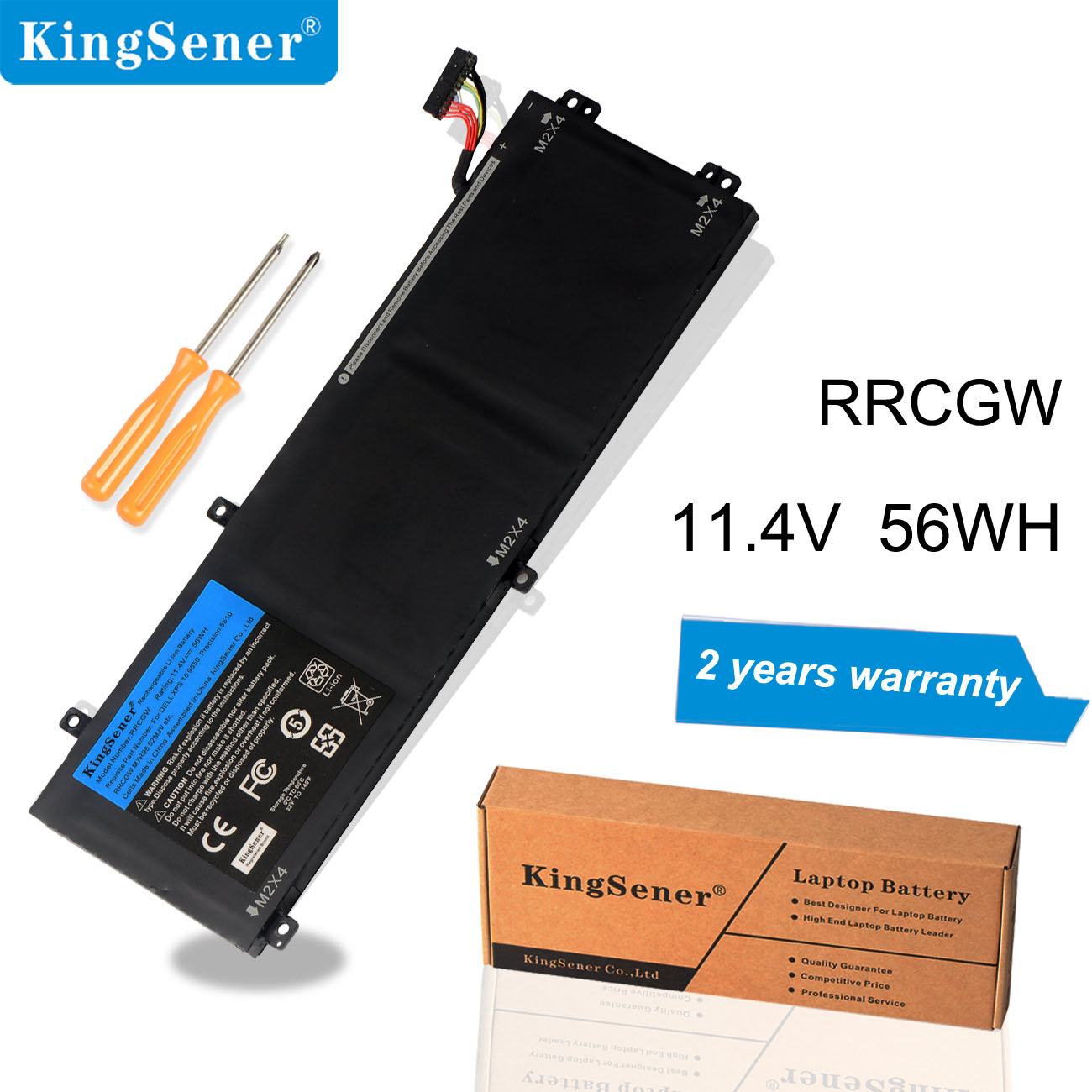 KingSener RRCGW New Laptop Battery For Dell XPS 15 9550 Precision 5510 Series M7R96 62MJV 11.4V 56WH Free 2 Years Warranty image