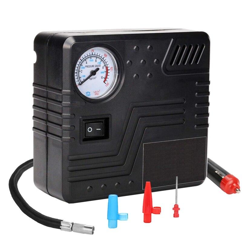 12v Auto Car Tyre Analogue Gauge Air Compressor Inflator Electric Pump 150psi