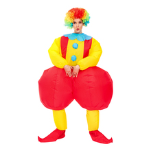 Adult Purim Clown Inflatable Costumes Clothes Halloween Cosplay Costume Funny Droll Carnival Party Role Play Suit for Man Woman