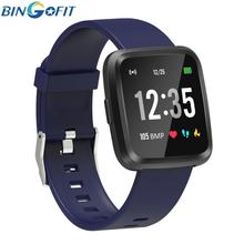 BingoFit Smart Bracelet Heart rate Monitor Blood Pressure GPS Fitness Tracker Wrisatband Sports Square Watches For Men Women