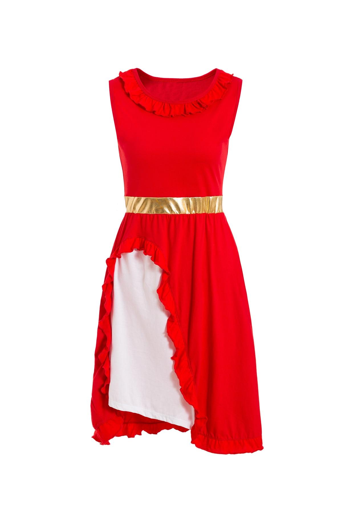 Платье принцессы для взрослых; одинаковый семейный маскарадный костюм «Минни Маус и я»; женское платье принцессы в горошек; большие размеры - Цвет: Elena