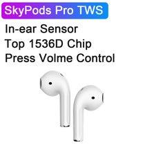 Skypods pro tws controle de volume sem fio fone de ouvido bluetooth atualizado i99999 mais tws controle volume 10d super bass sensor luz