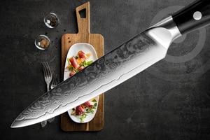 "Image 2 - XITUO دمشق سكاكين المطبخ 5 ""بوصة 67 طبقات اليابانية دمشق الصلب VG 10 سكين الطاهي الساطور تقشير تقشير أداة الطبخ هدية"
