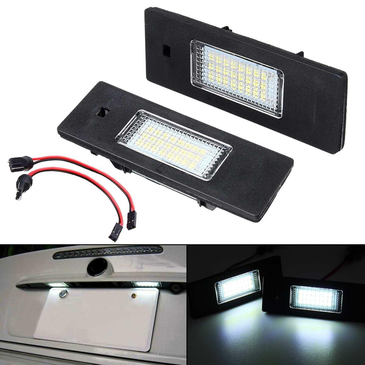 2X LED Number License Plate Light Lamp Error Free For BMW E81 E87 E63 E64 M6 E85 E86 E9 Z4 F20 F21 F06 F12 F13 Mini Cooper