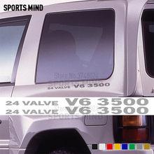 Calcomanías de vinilo para coche Mitsubishi, calcomanías adhesivas de 2X24 válvulas V6 3500 para automóvil Mitsubishi Pajero / Delica Shogun Montero MK2 V20