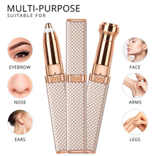 Eyebrow-Trimmer Hair-Removal Lips Face Painless Facial Rechargeable Women for 2-In-1