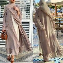 Abaya pour femmes musulmanes de dubaï, robes turques pour le Ramadan, ouvert, aide Moubarak, Islam, Hijab, Robe Kaftan pour musulmanes