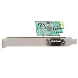 Новый PCIE в DB9 RS232 последовательный порт в Райзер-карта PCI 99100 1S чипсет последовательный контроллер карта PCI-E экспресс карта конвертер адаптер