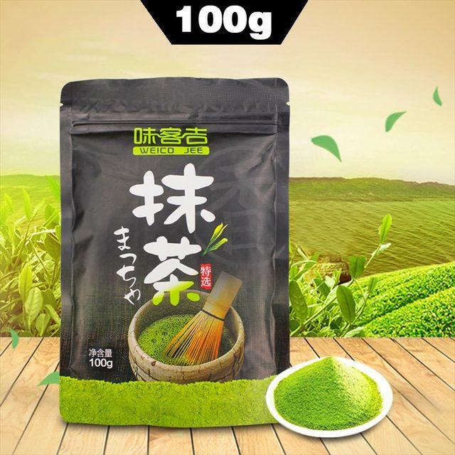 100g/box New Brand Chinese Green Tea Matcha Tea Green Food Pure Matcha Powder 1TZ21C1