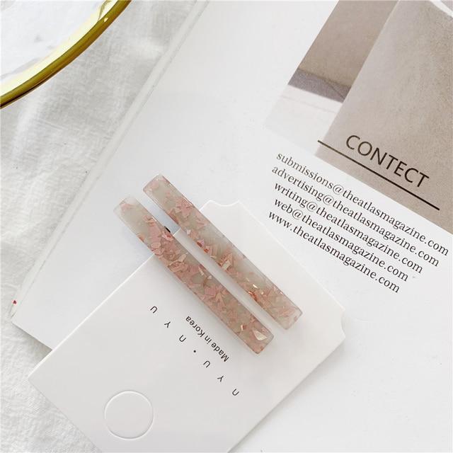 1 Pair Korean Gold Foil Hairpin Acetate Hair Clip Headwear For Women Girls Hair Accessories Barrettes Headband Hair Styling Tool 3