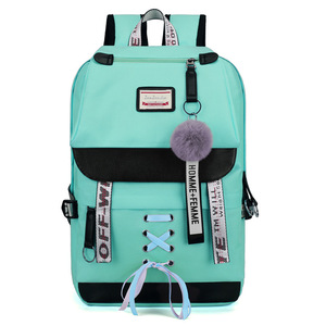 Image 3 - MYT_0220 Pink Oxford Backpack Women School Bags for Teenage Girls Preppy Style Large Capacity USB Back Pack Rucksack Youth