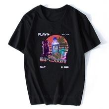 Vaporwave Fiji Bottle Vintage Retro Style T-shirts Streetwear Summer Men/Male T Shirt Aesthetic Clothes Camisetas Hombre