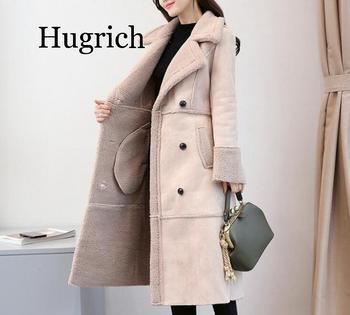 2020 Winter Women Warm Coat Jacket New Fox Fur Luxury Faux Lamb Overcoat Fake Outwear