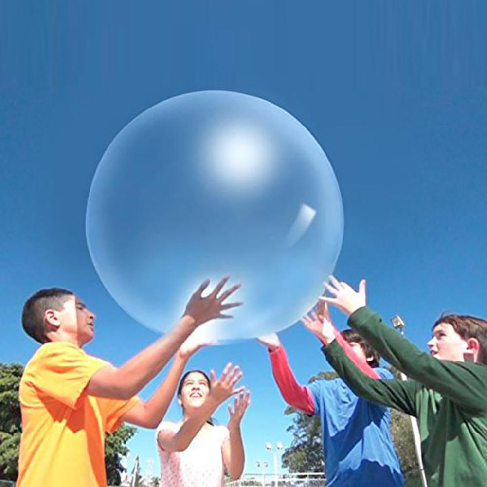 Baby Bubble Balls Soft Squishys Air Water Filled Balloons Blow Up For Children Summer Outdoor Games bath Balloon Toys(China)