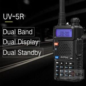 Image 3 - Optional 5W 8W Baofeng UV 5R Walkie Talkie 10 km Baofeng uv5r walkie talkie hunting Radio uv 5r Baofeng UV 9R UV 82 UV 8HX UV XR
