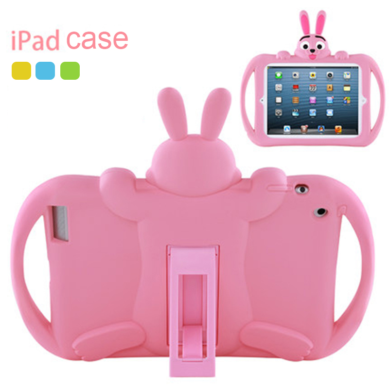 Kids Case For IPad 2 3 4 Soft Silicon Washable Child Lovely Stand Tablet Cover For Ipad 9.7 Inch 2017 2018 Mini 5 4 3 2 1 Air 2