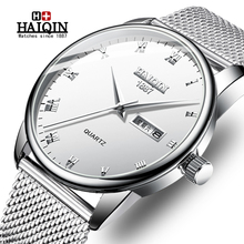 HAIQIN Mens Watches Top Brand Luxury Reloj Hombre Business Q