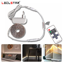 Tira de luz de led regulável smd2835, à prova d' água, branco/quente, dc12v, controle de brilho, dimmer rf 10key, iluminação de fundo remota