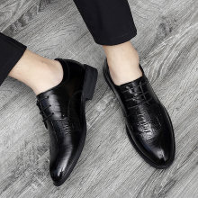 British Business Casual Shoes Korean Style Men's Shoes Black Flats Shoes Casual Pointed Top Formal Business Male Wedding Dress %