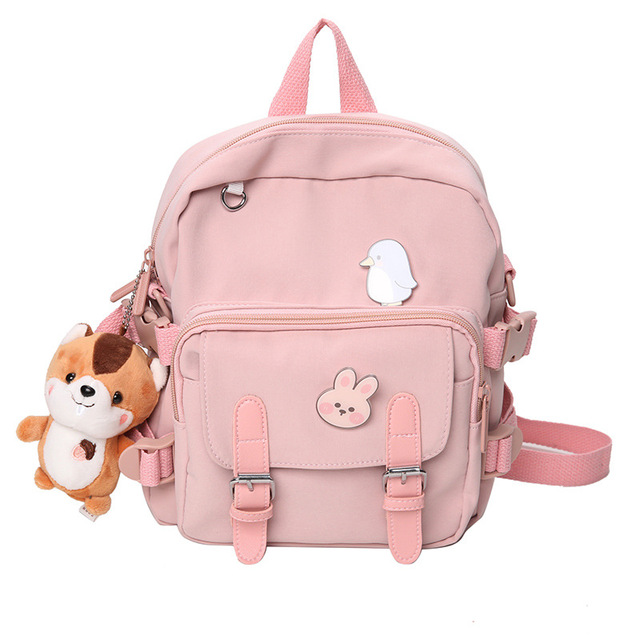 Korean Style Canvas Small Mini Backpack For Women Fashion Travel Backpack Leisure School Bag Tote For Tennage Girl Shoulder Bag 4