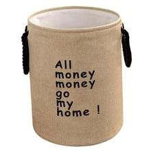 Толстая двухслойная корзина для хранения грязной одежды из хлопка и льна, складная корзина для белья, корзина для хранения игрушек, корзина для сточных вод