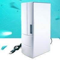 Mini USB refrigerator Coke refrigerator insulin cooling box cosmetics tin paste refrigerator portable usb fridge gadgets cool