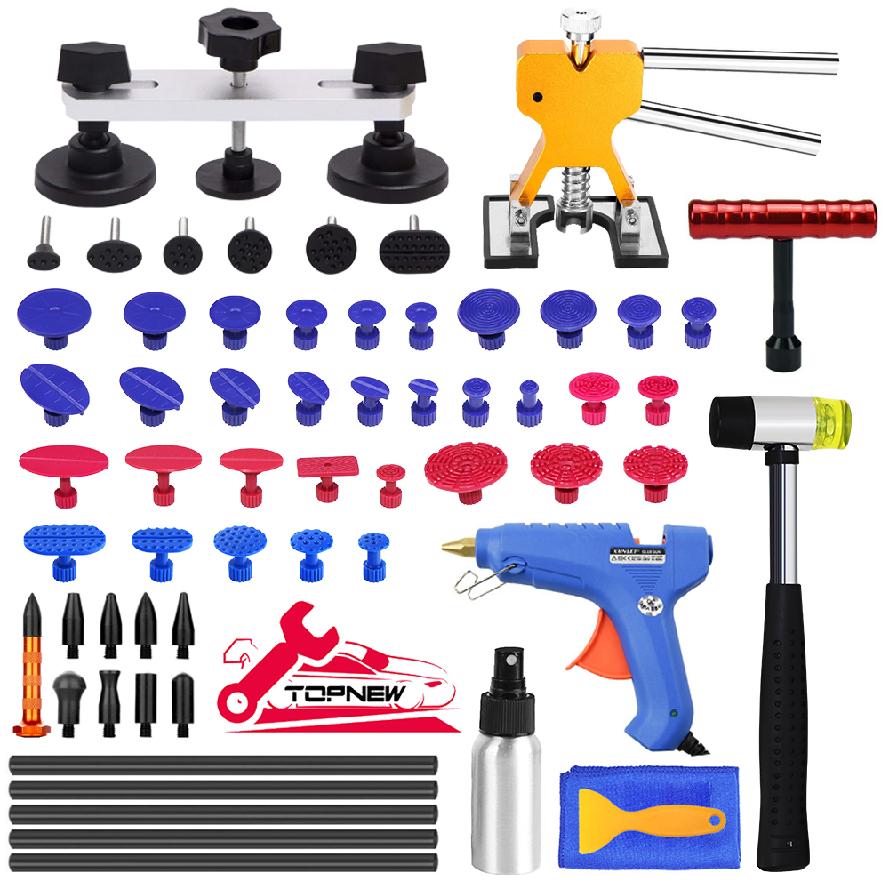 Kits de reparación de abolladuras sin pintura para automóviles, extractor de abolladuras para automóviles con Kit de reparación de abolladuras de puente para el refrigerador de motocicletas y carrocería de automóviles