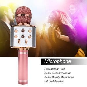 Image 2 - WS858 Portable Bluetooth Karaoke Microphone Wireless Professional Speaker Home KTV Handheld Microphone
