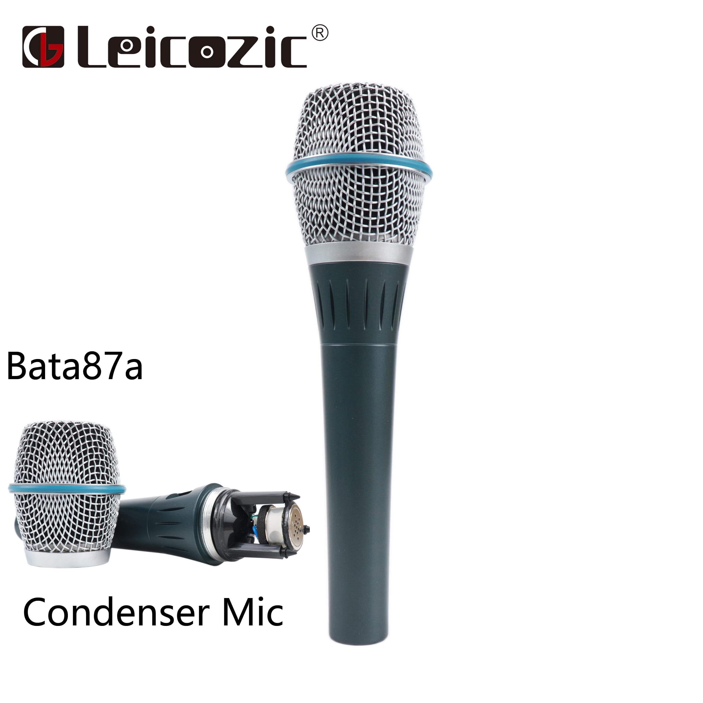 Leicozic professionnel Super-cardioïde Bata87A chant Studio Microphone filaire condensateur Microphone fil XLR livraison gratuite
