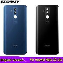 Oryginalny Huawei Mate 20 Lite tylna pokrywa baterii obudowa szklana obudowa z obiektywem aparatu Huawei Mate 20 Lite obudowa tylna