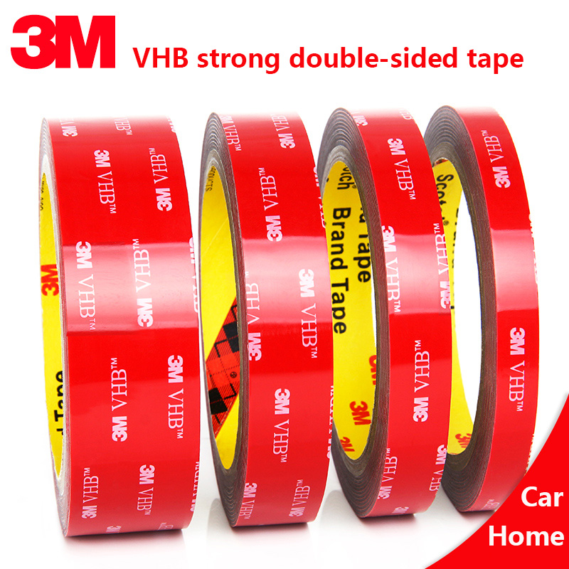 3Meters/Roll Double-Sided Adhesive 3M VHB Car Wiper Strong Thickening Waterproof Shock-Absorption Fixed Foam Non-Marking Tape