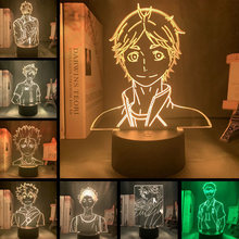 Haikyuu!! Touch Light Anime Kozume Kenma 3d Lamp for Kids Bedroom Decor Night Light Children Birthday Gift