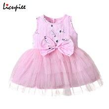 От 1 до 5 лет, повседневные платья для маленьких девочек Одежда для маленьких девочек; Платье с фатиновой юбкой без рукавов круглый вырез гор...