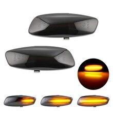 Marcador lateral dinâmico de led, 2 peças, luz sequencial blinker para peugeot 308 207 3008 5008 para citroen c4 c3 c5 ds3 ds4