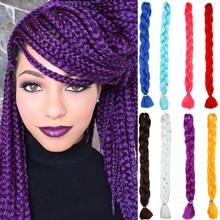 MUMUPI Мода 82 дюйма 165 г/упак. огромные косы волос косы с крючком чистый цвет волос экспрессии плетение волос Головной убор
