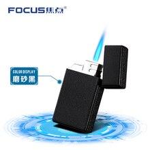 FOCUS  Oil Machine Gas Cigarette Lighter Windproof Metal Torch Smoking Gun Jet Flame lighter Refill