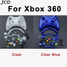 JCD المحمولة سماعة لاسلكية تعمل بالبلوتوث لعبة غطاء وحافظة لذراع التحكم غطاء الإسكان زر الوسادة ل XBOX 360