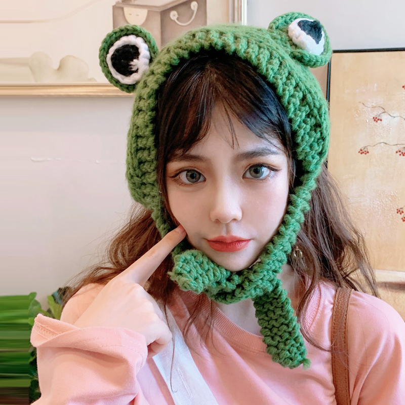 Cute Braided Earmuffs Winter Warm Frog Muffs Cute   Earmuff For Girls Women Headband Outdoor Earmuffs